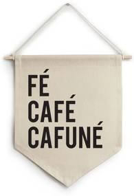 Flâmula de tecido Fé café cafuné