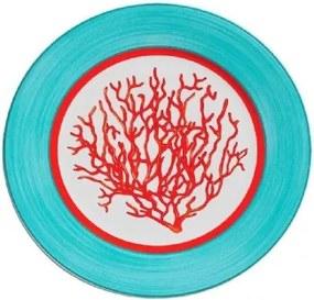 Conjunto de Prato de Sobremesa Coral - 6 peças