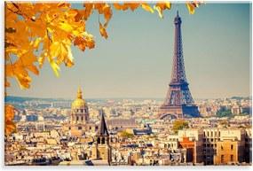 Tela Love Decor Decorativa em Canvas Outono Parisiense Multicolorido 90x60cm