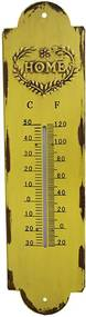 Termômetro em Metal Amarelo Home
