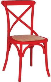 Cadeira Katrina Rústica Vermelha