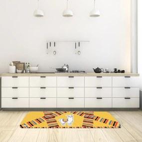 Tapete de Cozinha Mdecore Lhama Laranja 40x120cm