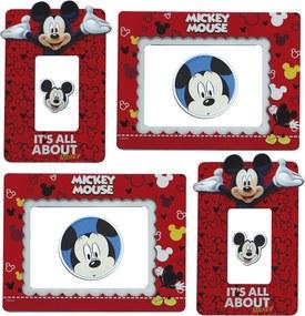 Adesivo porta retrato Minas de Presentes Mickey - Disney Vermelho