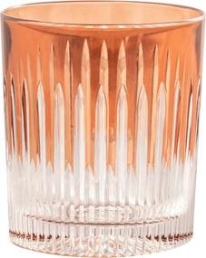 Copo de Cristal Lodz de 320 ml - Marrom Maple