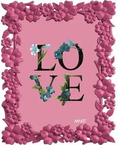 Porta Retrato Love 5510 13x18 Rosa Mart
