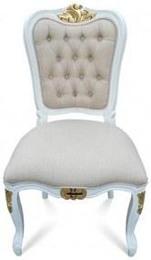Cadeira Luís XIV Capitonê Madeira Maciça Design Clássico Peça Artesanal