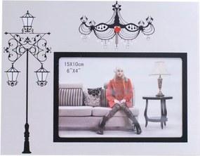 Porta retrato Minas de Presentes Alumínio Lustre 1 Foto 15X10cm Branco