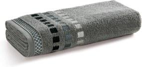 Toalha de Banho Karsten Calera Cinza Steel 67x135cm Algodão