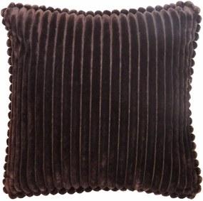 Capa de Almofada Veludo Listras Marrom Relevo 45x45cm