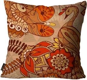 Capa para Almofada Premium Peluciada Mdecore Floral Colorido 45x45cm Vermelho