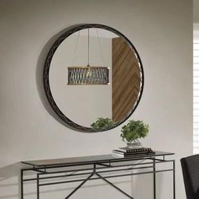 Espelho Decorativo Redondo Arus 120 cm - Preto