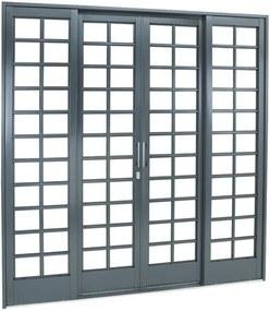 Porta de Aço de Correr Belfort Quadriculada 4 Folhas 217x200x12 - Sasazaki - Sasazaki