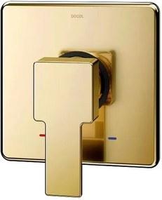 Acabamento Monocomando para Chuveiro Docolbase Edge Ouro Polido - 00925943 - Docol - Docol