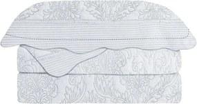 Colcha Matelasse Queen Antique Branco 3 pçs Camesa 240x260cm