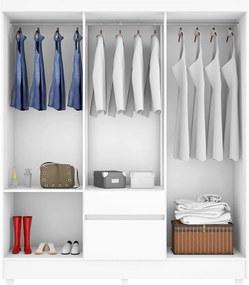 Guarda-roupa Barry C/ 6 Portas e 2 Gavetas Branco / Rosa Flex