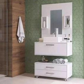 Gabinete Para Banheiro Completo Cuba Painel Balcão 80cm