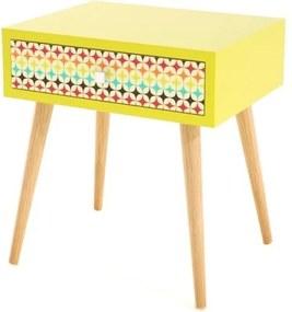 Criado Mudo Laca Cor Amarela 1 Gaveta Color Dream - 31826 Sun House