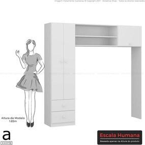 Guarda-roupa Carla Infantil Branco Premium