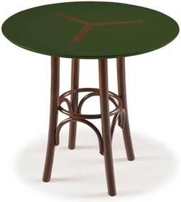 Mesa Bistro Opzione Baixa Cor Imbuia Com Verde Escuro -29050 Sun House