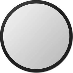 Espelho de parede redondo Edge - 130 borda preta Vidrotec