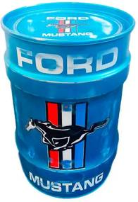 Tambor Decorativo Pequeno Ford Mustang Azul