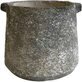 Cachepot de Cimento Rústico 18x20,5cm