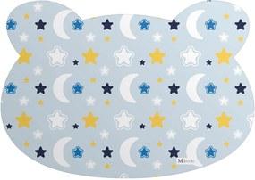 Tapete PET Mdecore Urso Lua Azul54x39cm