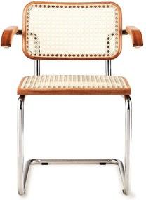 Cadeira com Braço Cesca Trama Palha Sintética Clássica Design by Marcel Breuer