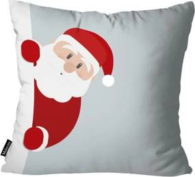 Capa para Almofada Mdecor De Natal Papai Cinza