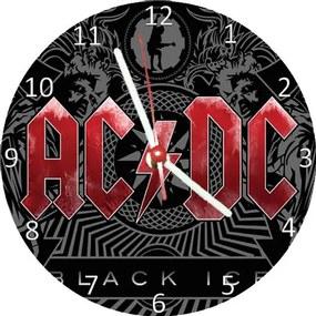 Relógio Decorativo AC/DC Black Ice