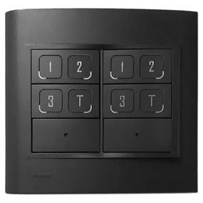 Interruptor Inteligente 4X4 Dimerizavel Newpad Mix - CARBONO