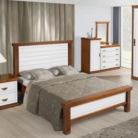 Cama de Casal Style Flex Prime Peseira Baixa Domus Móveis -