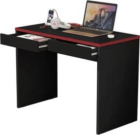 Escrivaninha JB 6080 Luxo Preto com Vermelho – JB Bechara