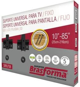 Suporte Para TV Led/Plasma Preto SBRU758 Brasforma