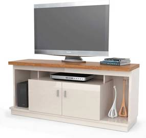 Rack Home Para Tv 50 Polegadas Requinte 1.4 Lukaliam Off White/amêndoa