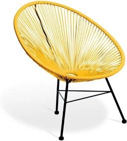 Cadeira Acapulco Amarela de Corda Pet Designer