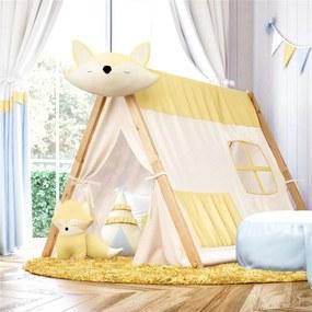 Cabana Infantil Branca e Amarela Raposinha Grão de Gente Amarelo