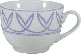 Xicara Chá c/ Pires Porcelana Schmidt - Dec. Helena Lilás