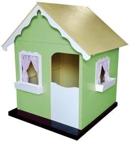 Casinha de Brinquedo Infantil Verde/Branco - Criança Feliz