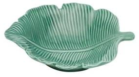 Folha Decorativa De Porcelana Pachira Verde 12,5x10x3cm 26875 Prestige