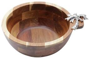 Bowl De Madeira Acácia Palmeira 20x7,5cm 26004 Bon Gourmet