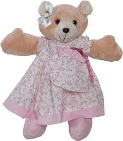 Ursa Porta Chupeta Queen Floral Rosa