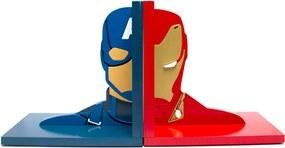 Aparador de Livros Guerra Civil Capitão América e Homem De Ferro Vingadores Marvel FBA