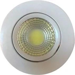 Plafon Led Embutir Redondo Articulado 9W Luz Amarela 3000K