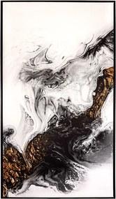Tela Minerais em Canvas - 80x140cm - Moldura Preta  Kleiner Schein