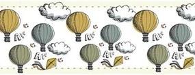 Faixa Border Autocolante Balão Céu Nuvem 90719656