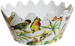 Cachepot em Cerâmica Pássaros - 15x31x23cm