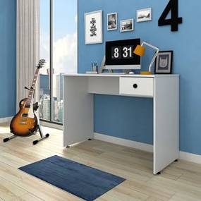 Mesa para Computador Notebook Escrivaninha 101cm Dubai Branco - Mpozenato