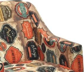 Kit 2 Poltronas Dakota C/ Pés Palito Suede Aveludado Estampado Vintage
