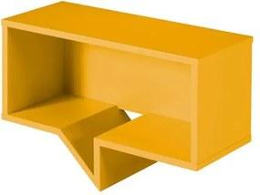 Prateleira Cartoon Retangular Laca Amarelo - 27243 Sun House